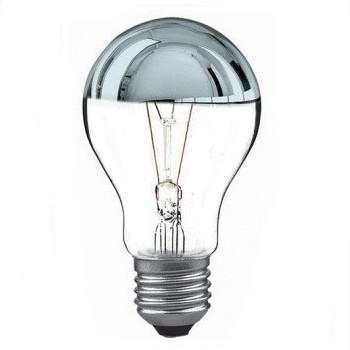 Glödlampa 60W toppförspeglad Silver - Leuci