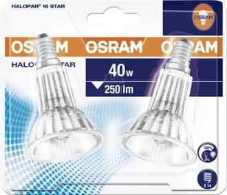 Halogenspot E14 40W 2-Pack - Osram Halopar 16 Star
