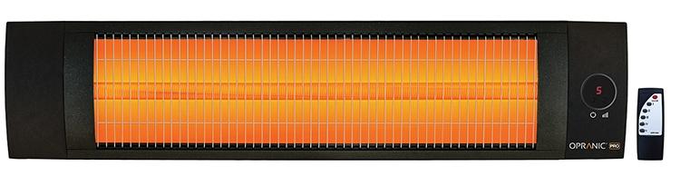 Infravärme Pro LAVA23XR-B-1,4-2,3kW IPX5 Svart - Opranic