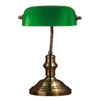 Bordlampa Bankers 42cm Grön - Markslöjd