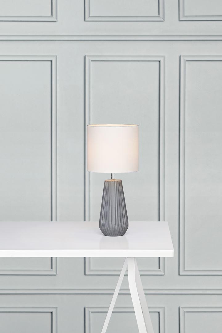 Bordlampa Nicci Grå/Vit - Markslöjd