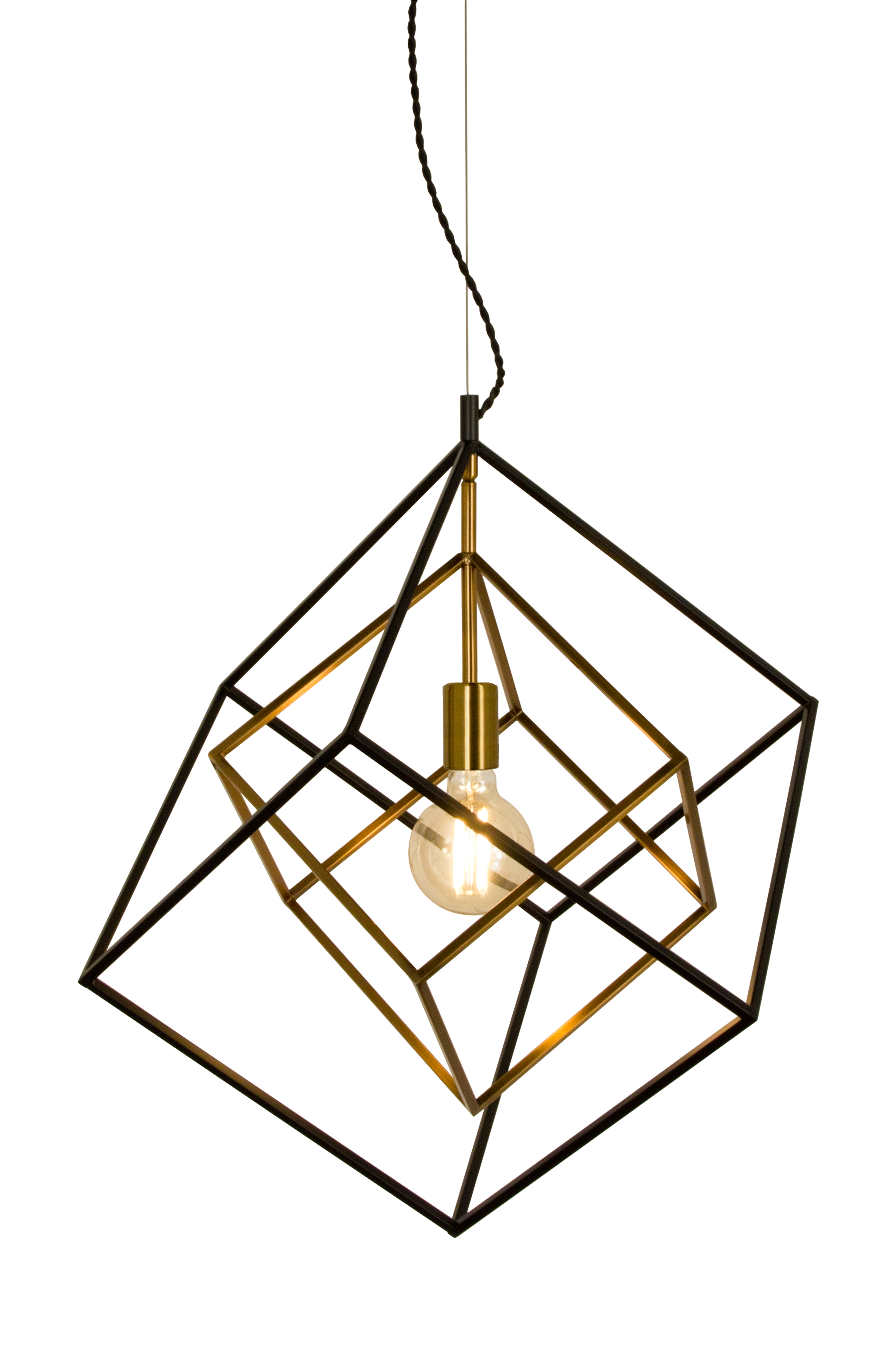 Taklampa Cubes Svart - Aneta