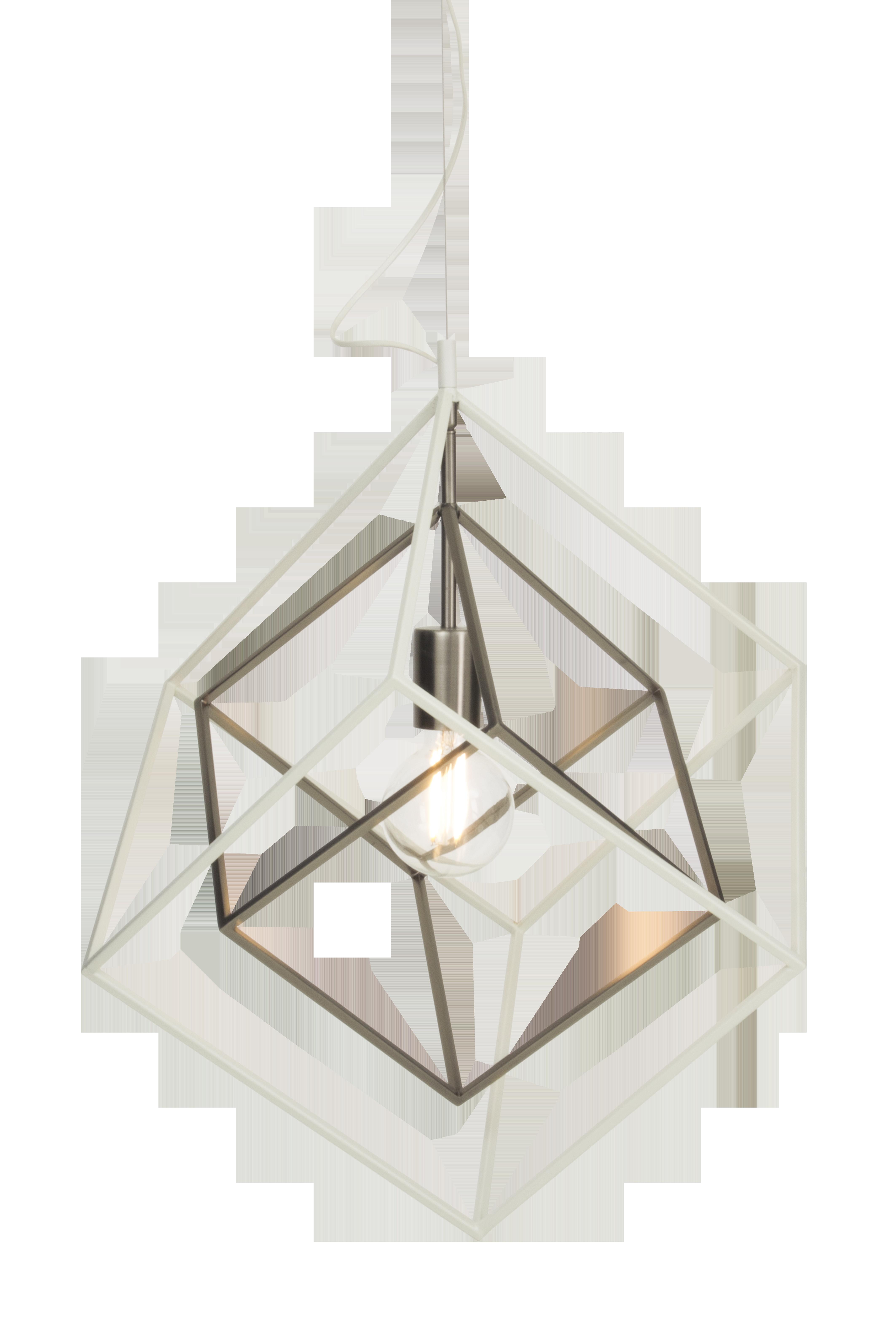 Taklampa Cubes Vit - Aneta