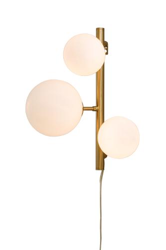Vägglampa Molekyl Mässing/Vit - Aneta
