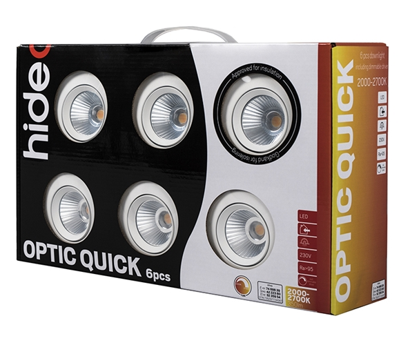 Downlight LED Optic Quick ISO 6-pack - Hide a Lite
